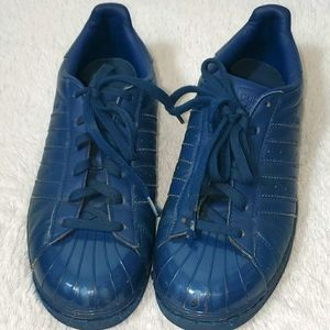 Adidas SuperStar Blue Leather Sneakers